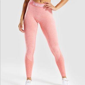 Gymshark Peach/Coral Flex Leggings